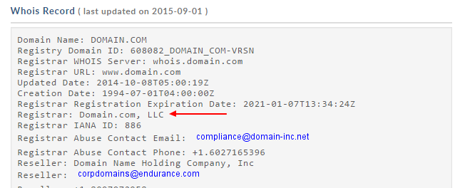 RE: From where can I check which is the current registrar of a domain name?