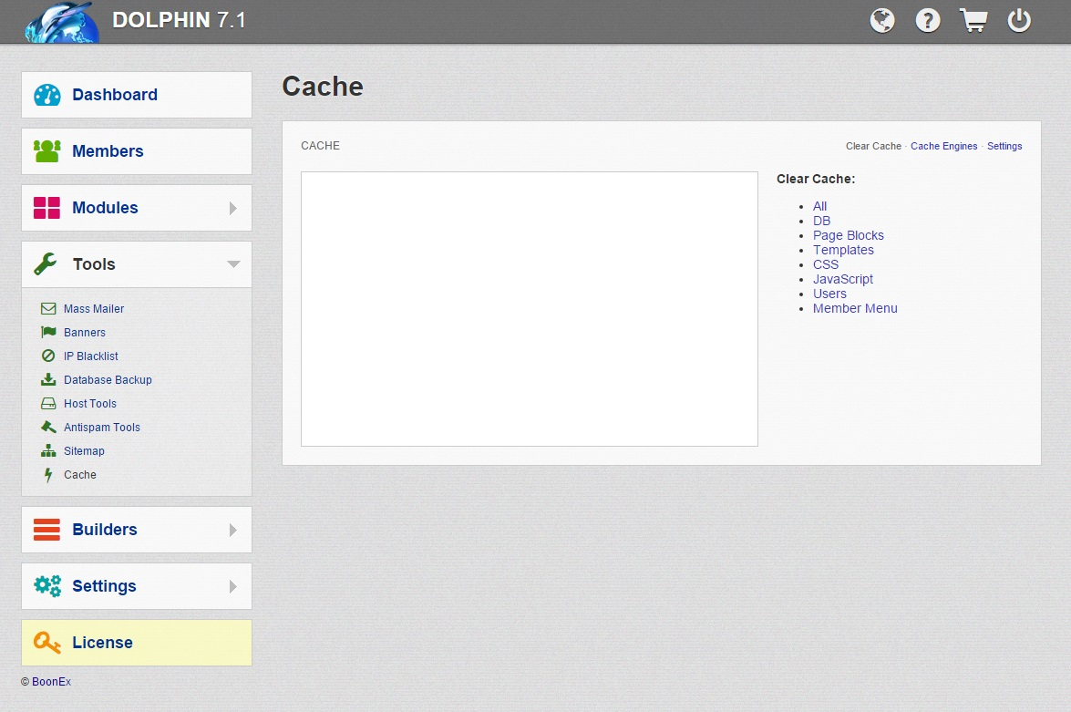 How to clear the cache in Dolphin? |