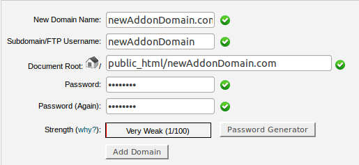 RE: Adding more domains to my account and poinitng them to different directories