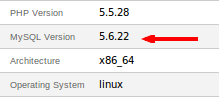 RE: From where can I check the MySQL version on my server?