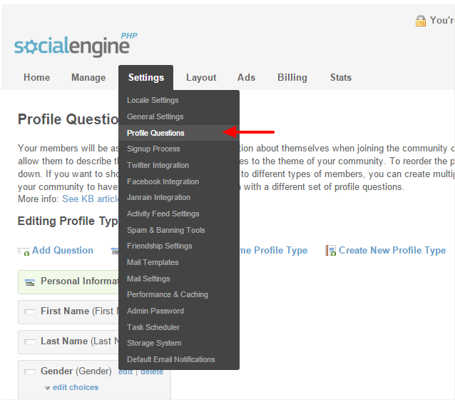 How to find and edit social engine profile page re how to find and edit social engine profile page pronofoot35fo Image collections