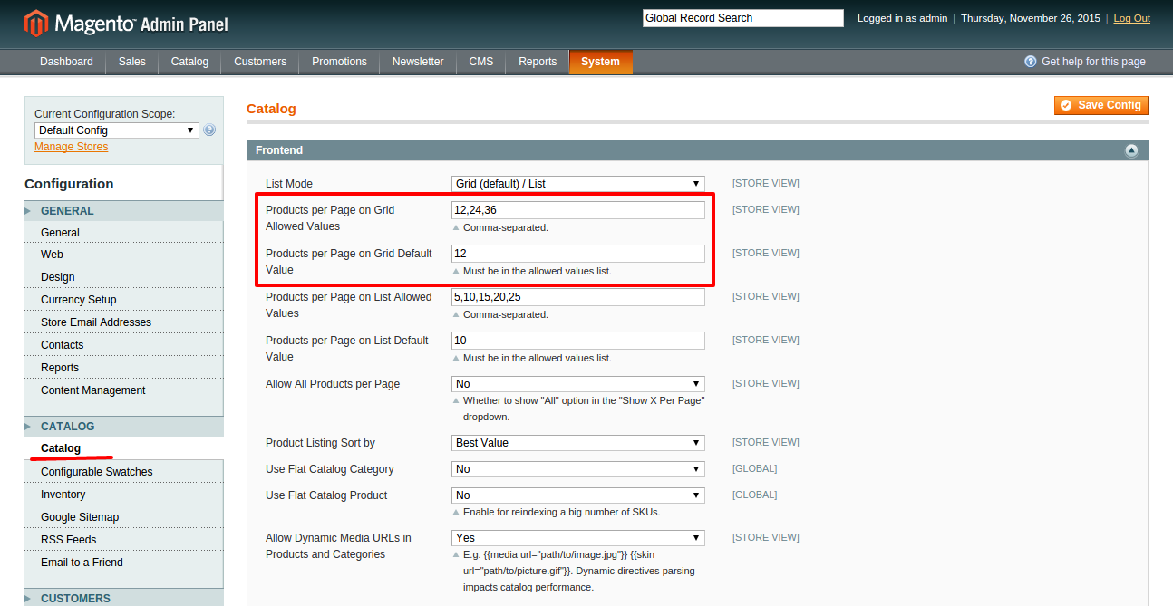 RE: How to set 10 products per page in Magento?