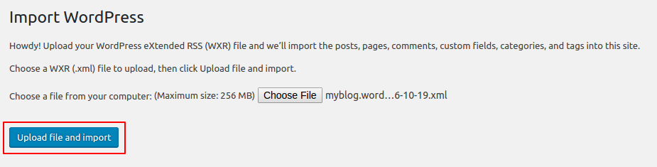 RE: WordPress posts migration