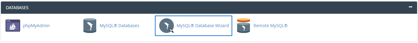 RE: Create a database in cPanel