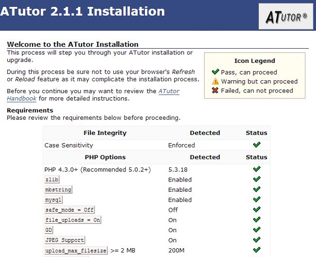 aTutor Manual Installation