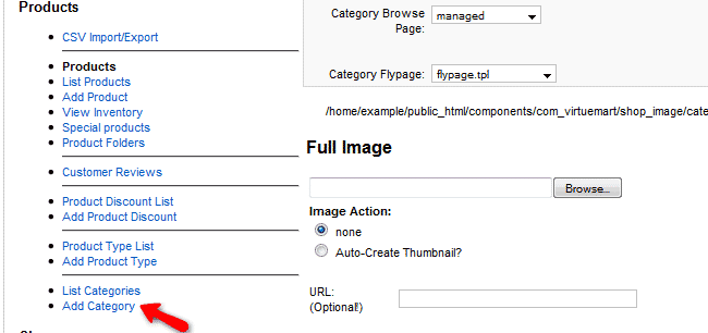 How to create categories in VirtueMart?