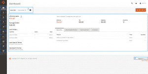 Basic functions in the Magento administration panel