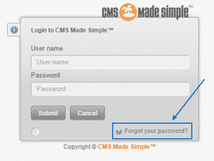 How to reset the admin password in CMS Made Simple?