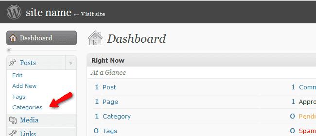 Categories Button