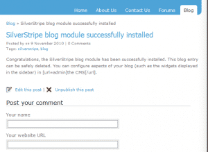 How to add a blog in SilverStripe?
