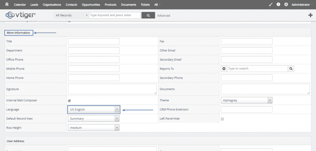How to add extra languages to your vTiger CRM?