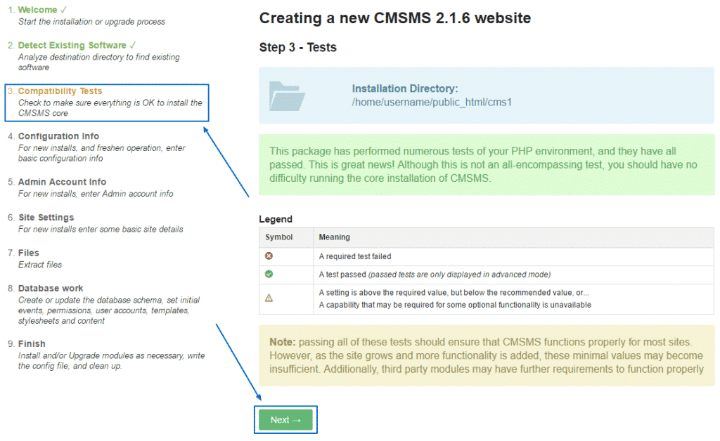 How to install CMS made simple manually?