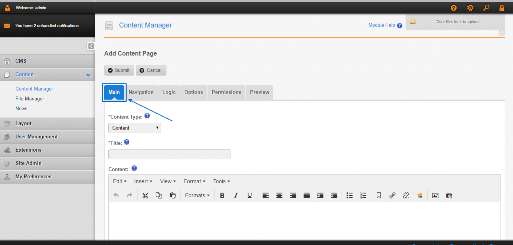 How to add new pages in CMS Made Simple?