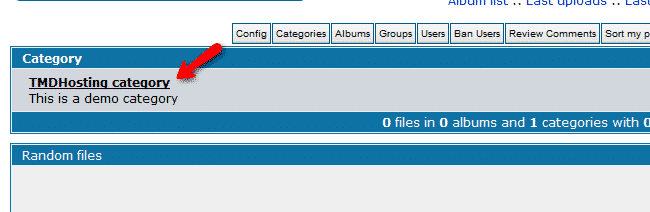 How to create new categories in coppermine Gallery?