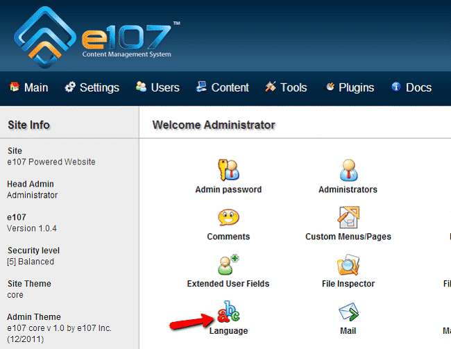 How to Install a Language Pack in e107?