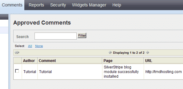 How to manage the comments on your pages in SilverStripe?
