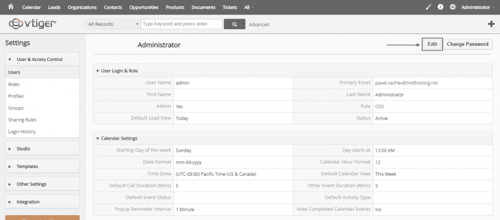 How to install themes in vTiger CRM?