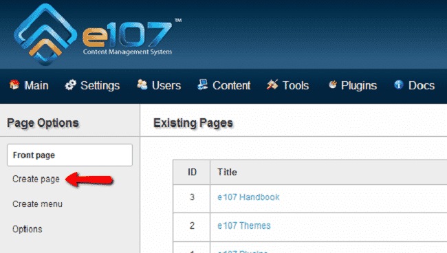 How to Create an e107 Page?