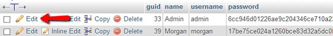 Admin password reset in Elgg