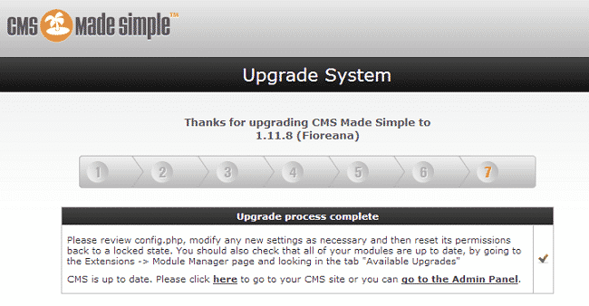 How to upgrade CMS Made Simple?