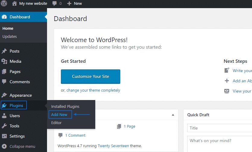 New Plugin Button