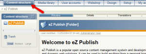 How to create content via your ezPublish admin panel?