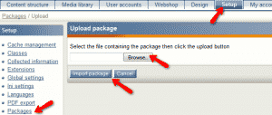 How to install a mew package on your ezPublish website?