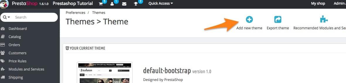 How to install PrestaShop 1.6 theme