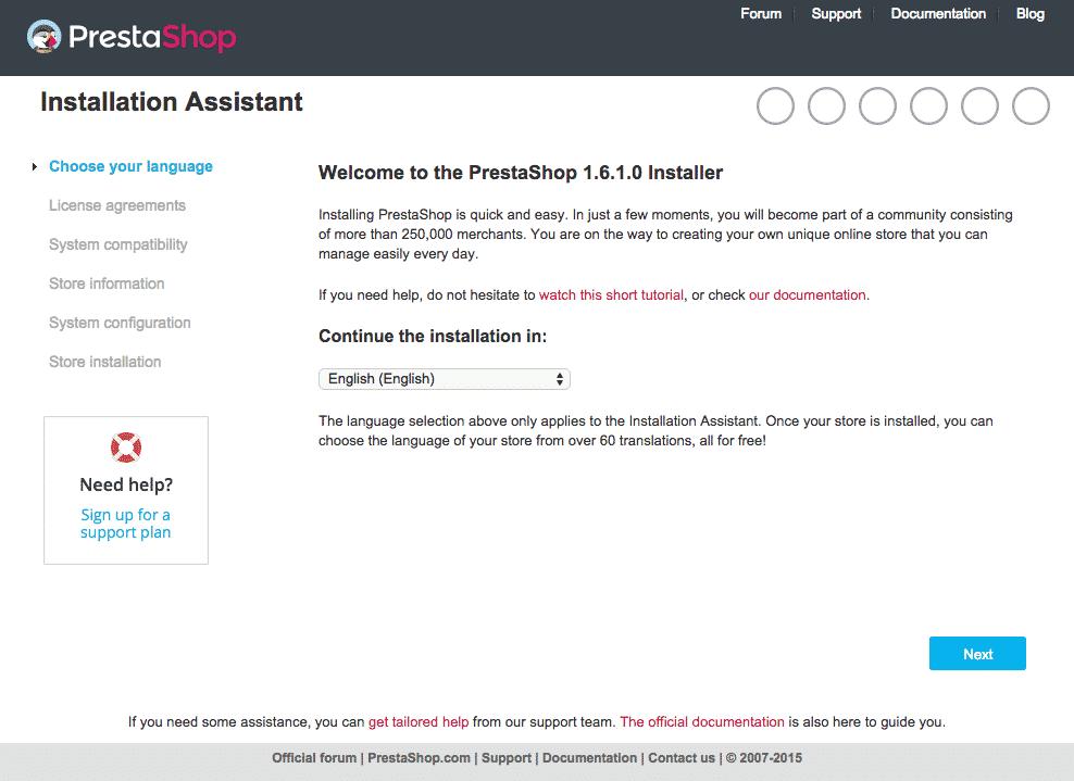 PrestaShop1.6 Manual Installation